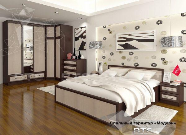 Модульный Спальный гарнитур Модерн (Бтс)